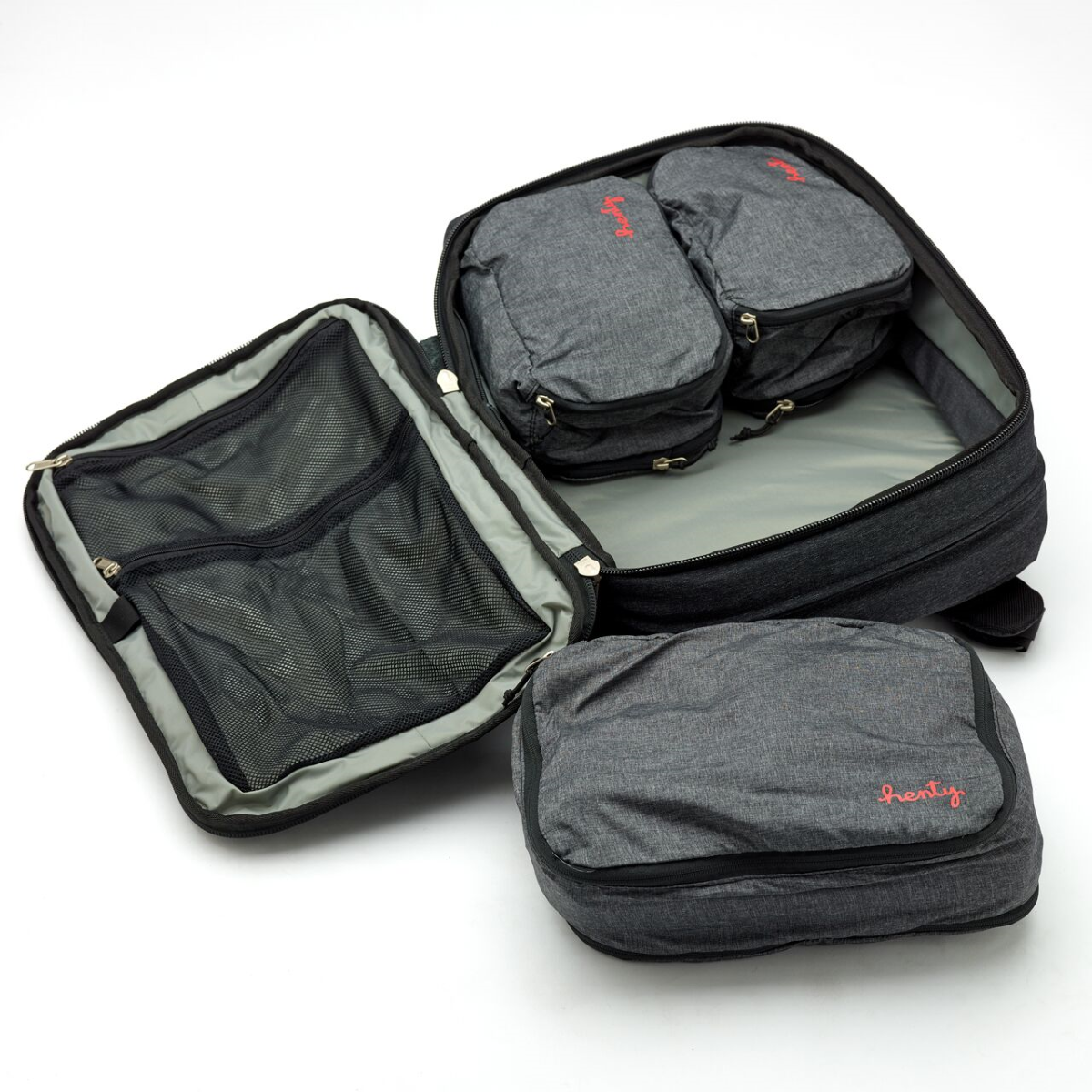 1. Henty Travel Brief Backpack Three Packing Cubes (2)