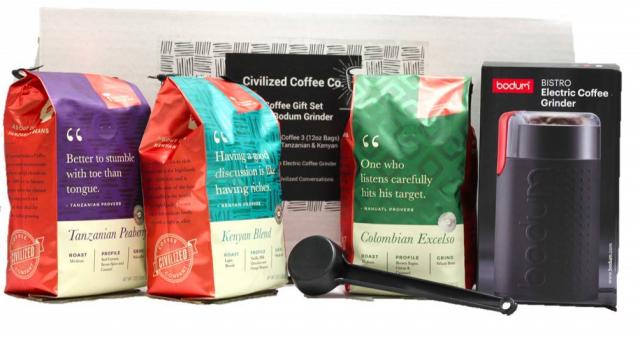 Civilized Coffee Premium Gift Box Set