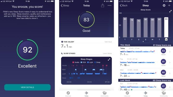 Fitbit Versa 2 - Sleep Tracking & Sleep Scores