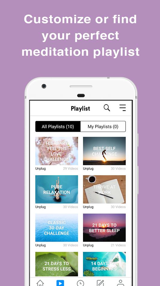 Unplug - App Personal Playlists