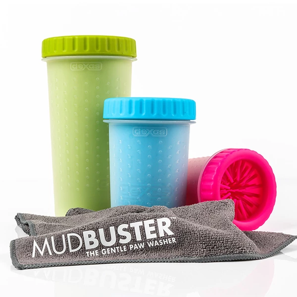 Dexas Mudbuster Sizes and microfiber drying towel