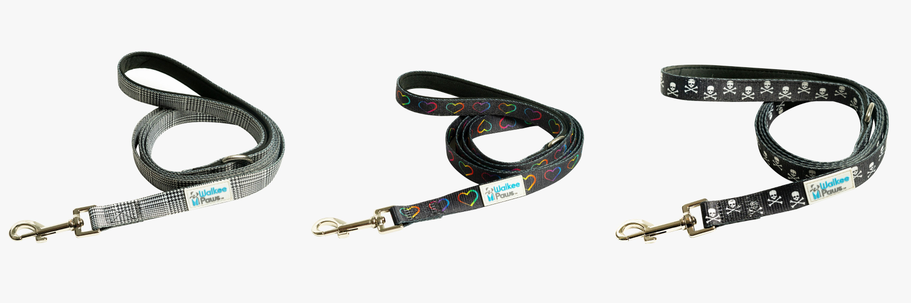 Walkee Paws Patterned Dog Leash - Different Models