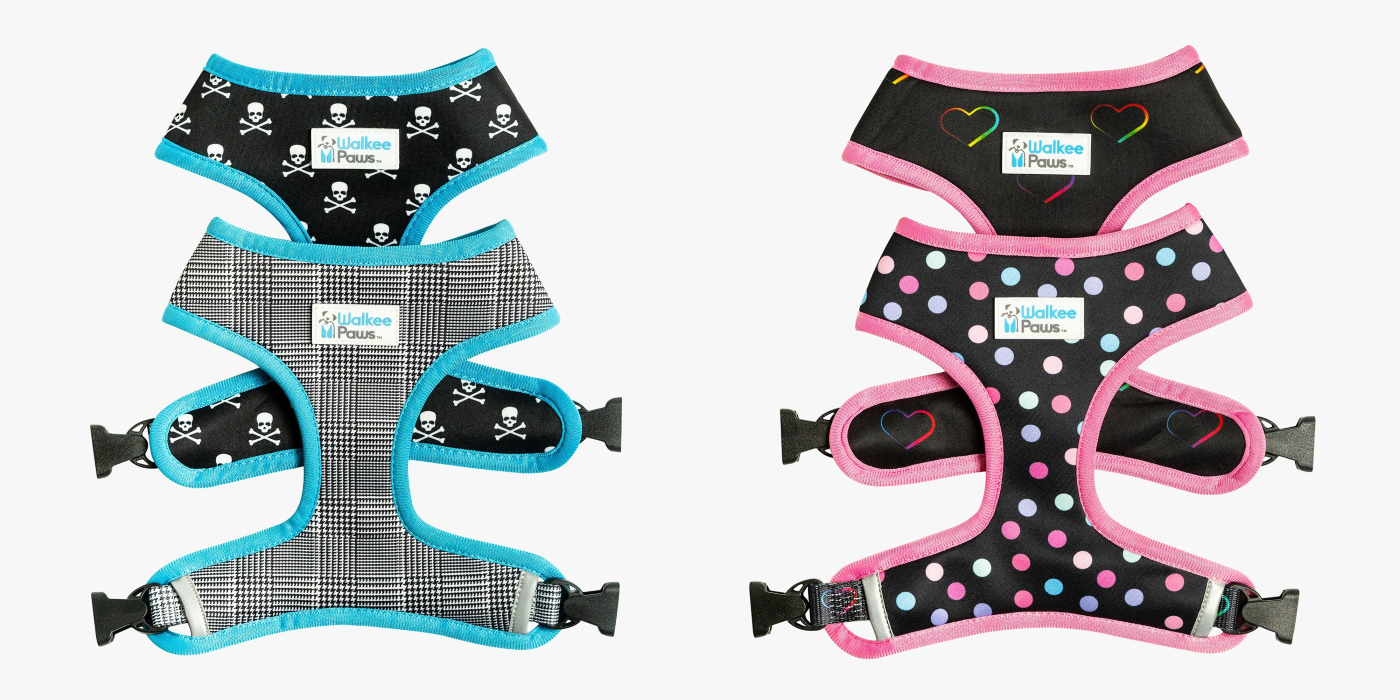 Walkee Paws Reversible Dog Harness - Different Patterns