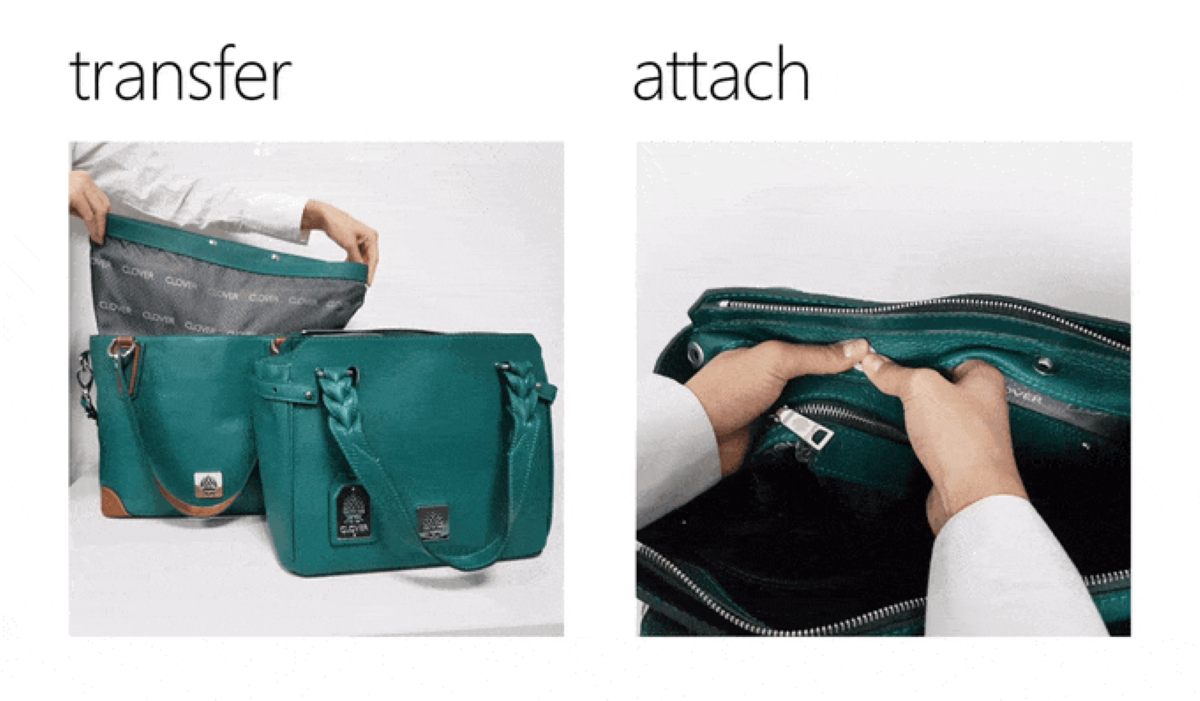 Clover Bag - Removable Inner Part