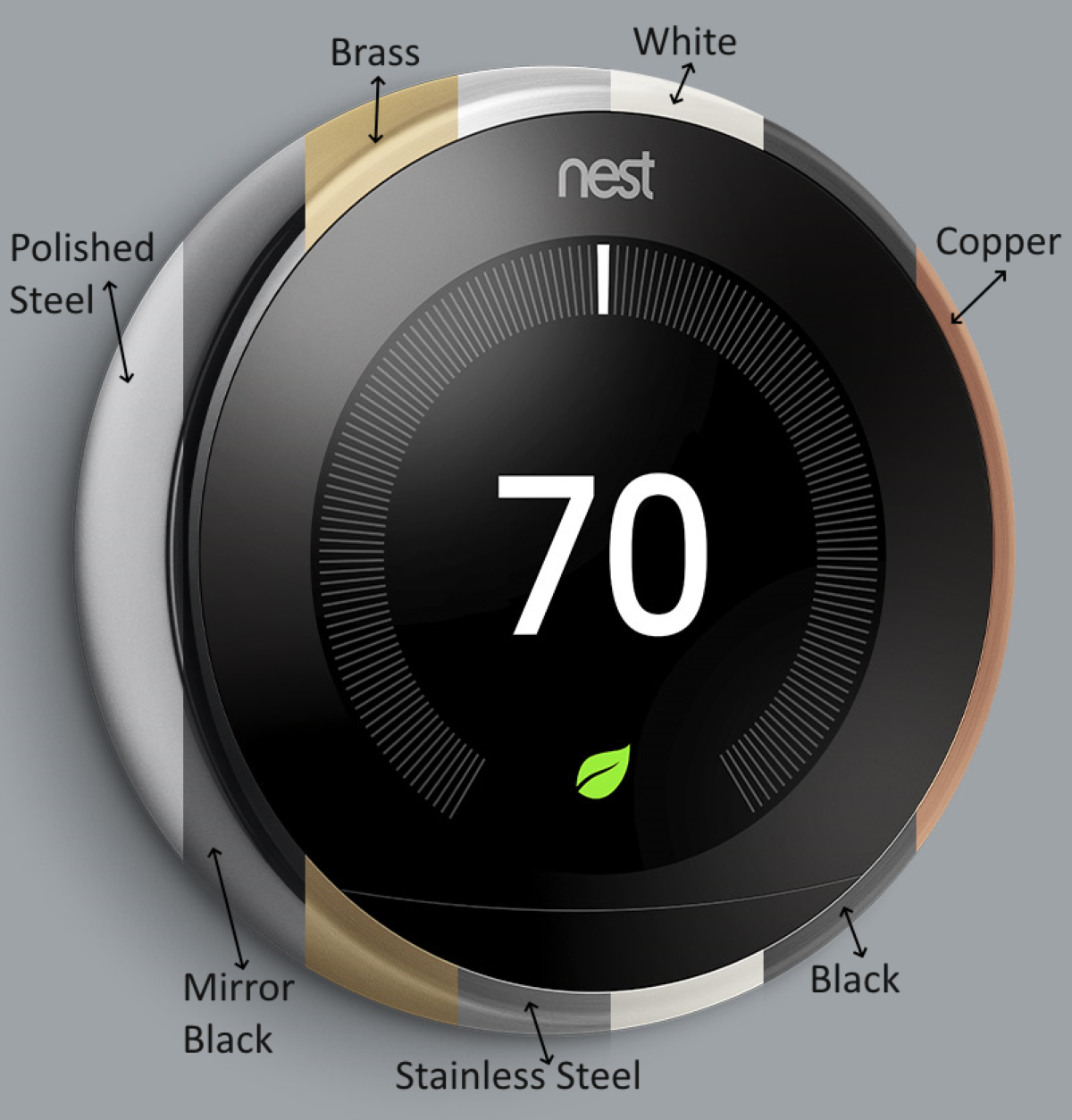 Google Nest Learning Thermostat 3rd Gen - 7 Different Color Models