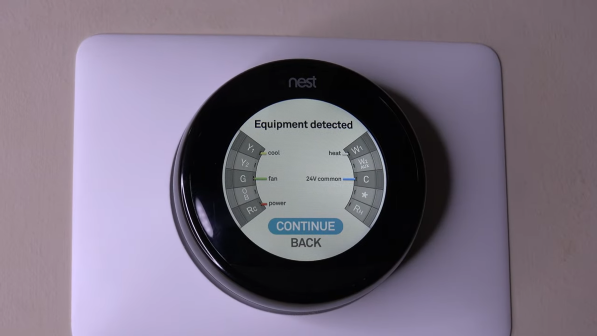 Google Nest Learning Thermostat - Successfull Wiring Screen