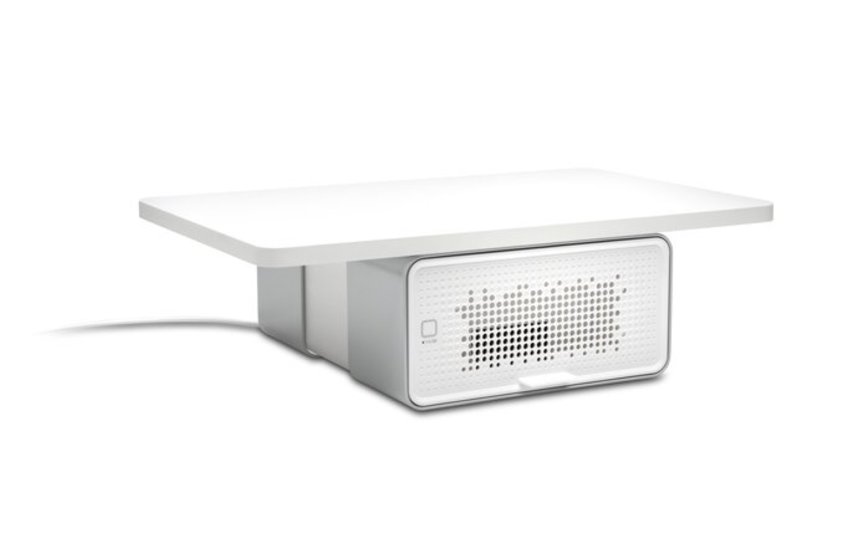 FreshView Air Purifier - Installed within its Monitor Stand