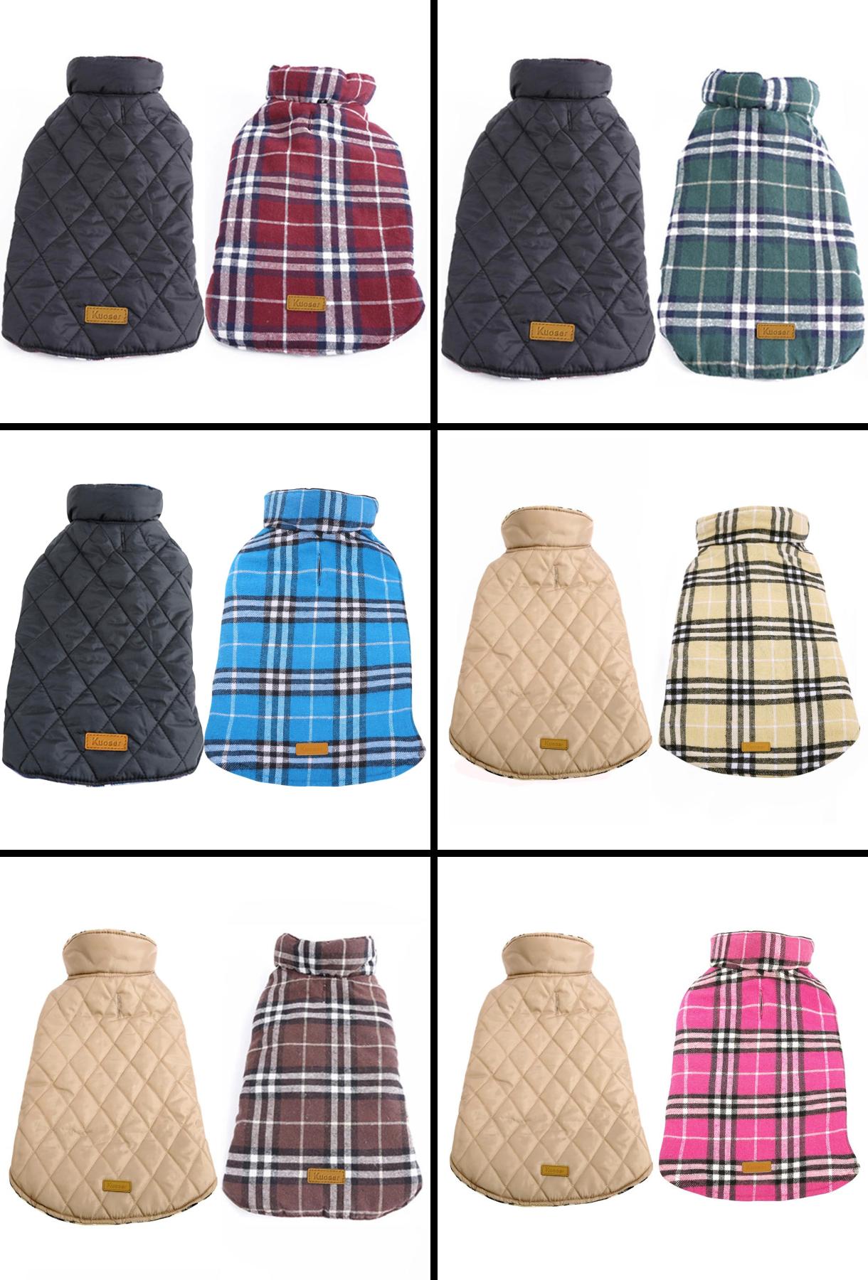 Warm Waterproof Dog Jacket - 6 Different Color Models