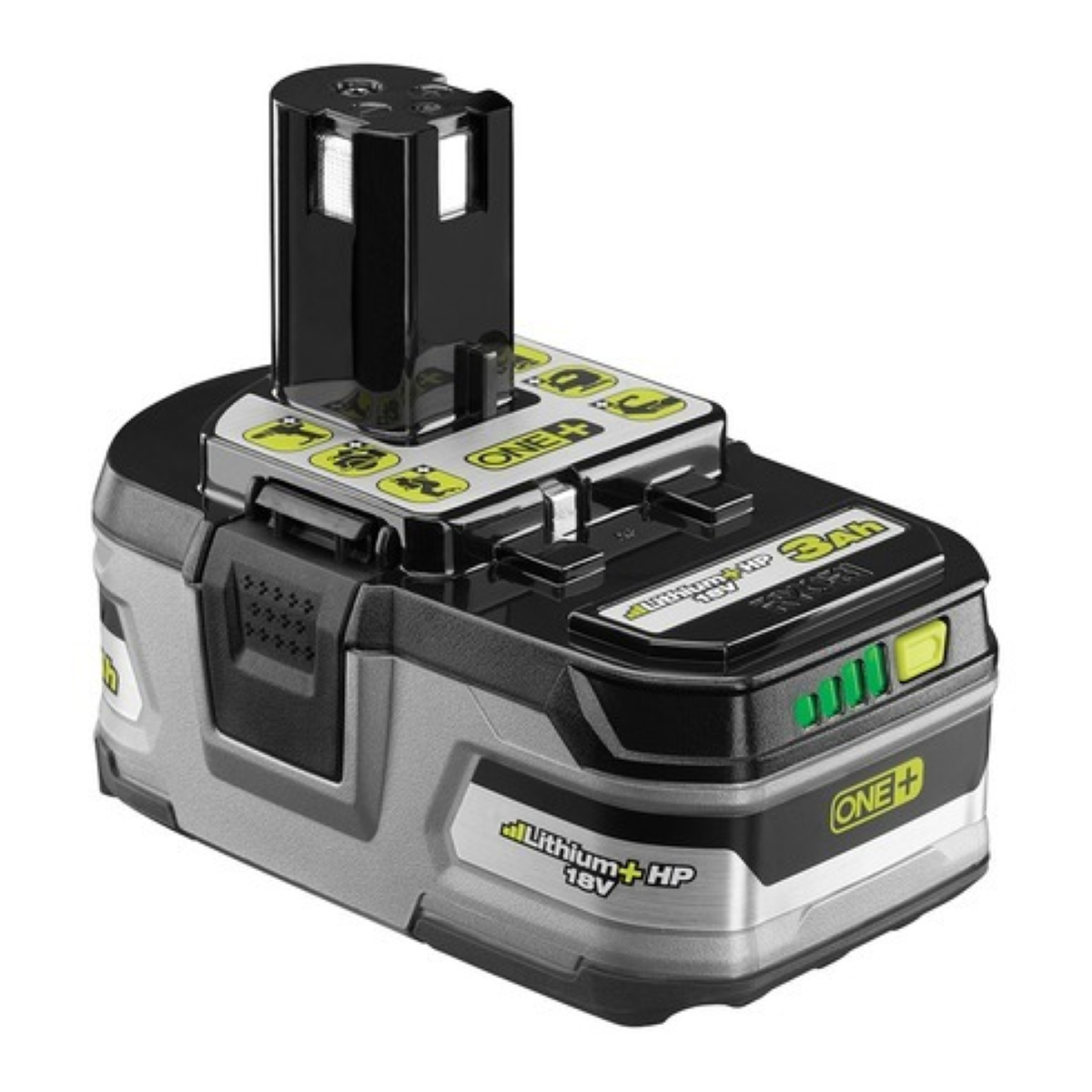 Ryobi P191 18V ONE+ 3.0Ah Battery - Built-In 4-Bar Illuminated Charge Indicator