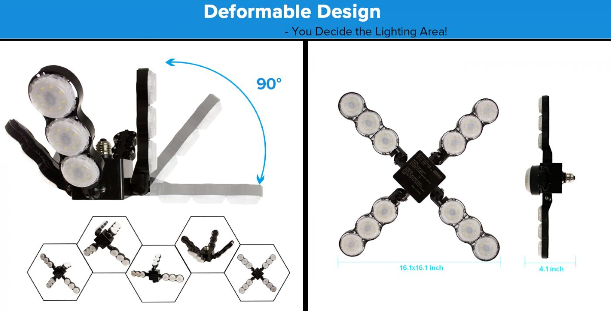 SANSI Ceiling Light - Deformable Design