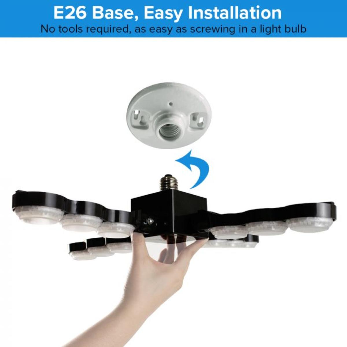 SANSI Ceiling Light - E26 Base for Easy Installation