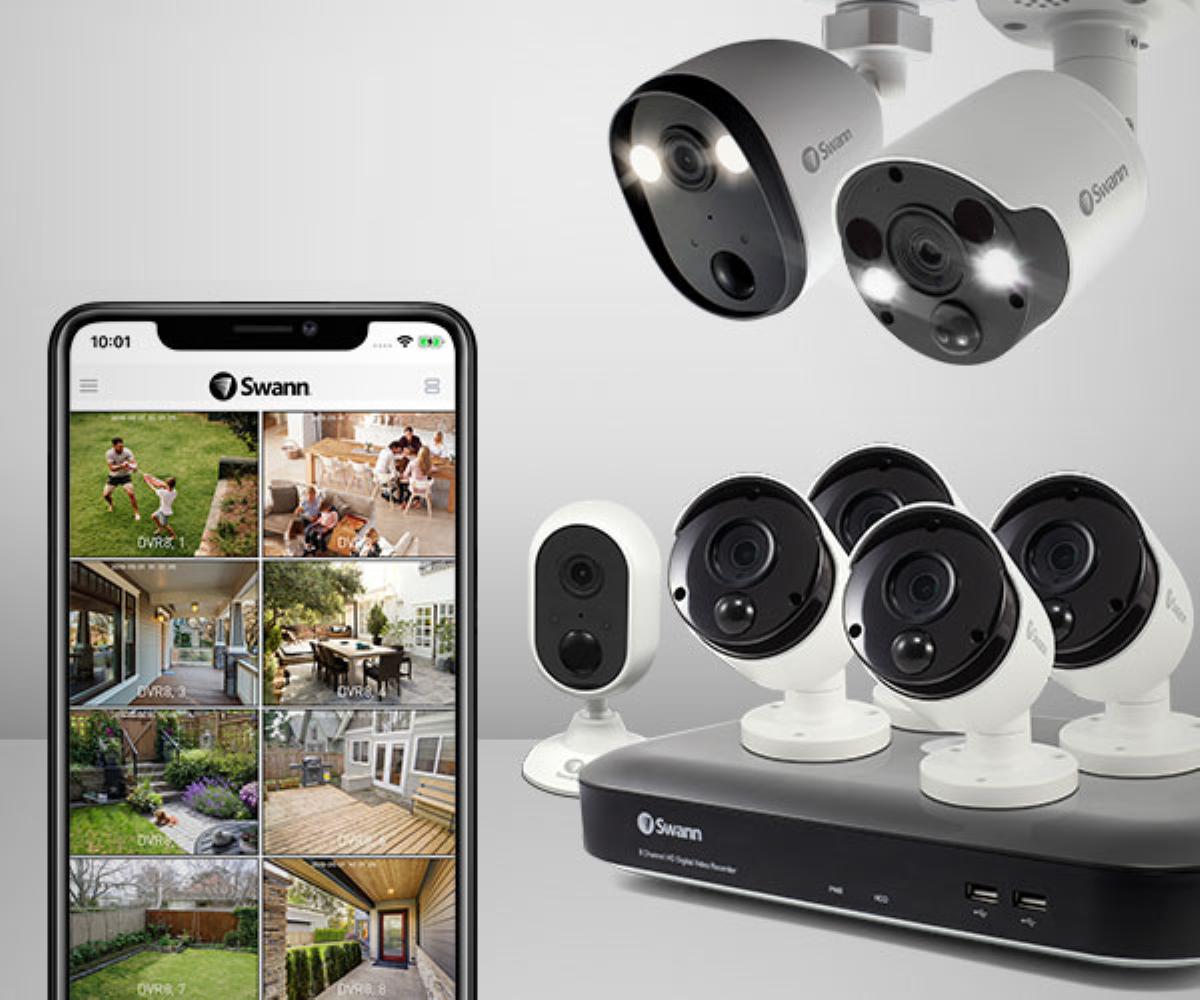 Swann Spotlight Security Camera - Smartphone App with Multi-Camera Controls