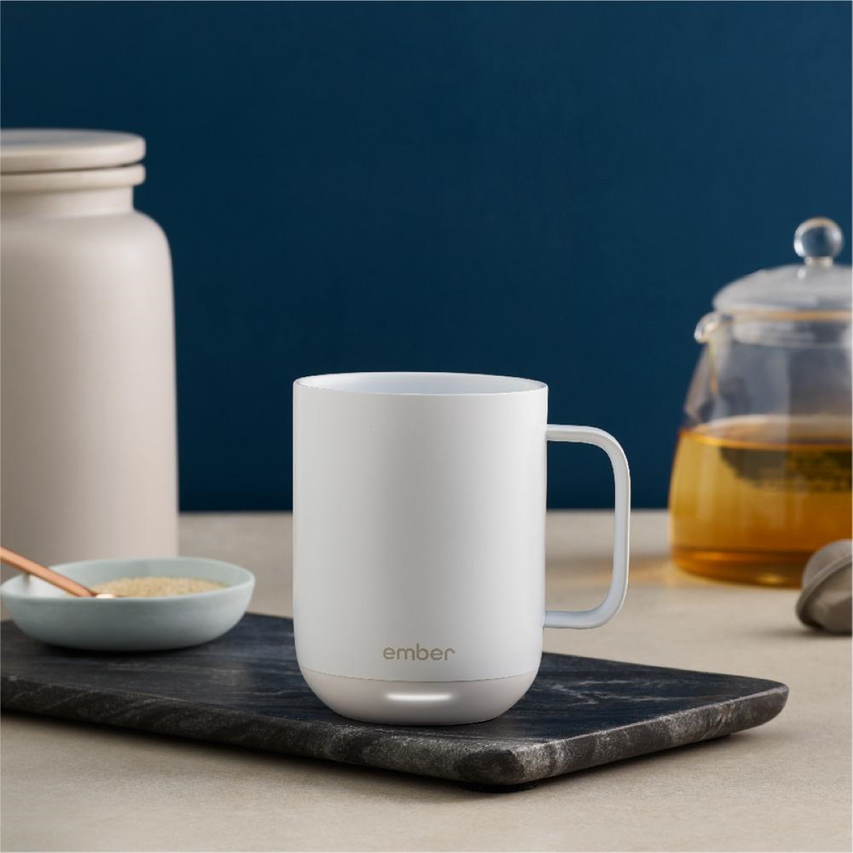 Ember Mug 2 battery heated coffee mug - 10 oz. model in White