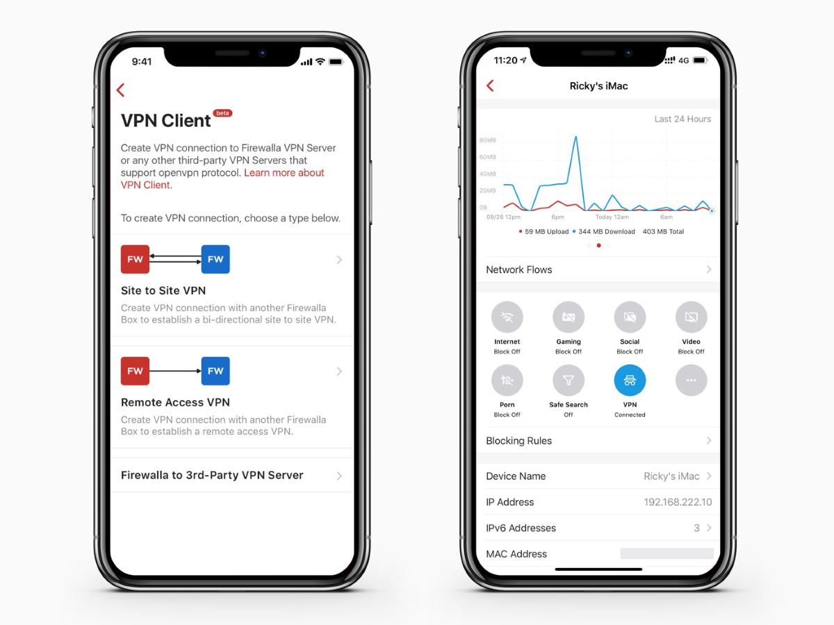 Firewalla Blue - VPN Client