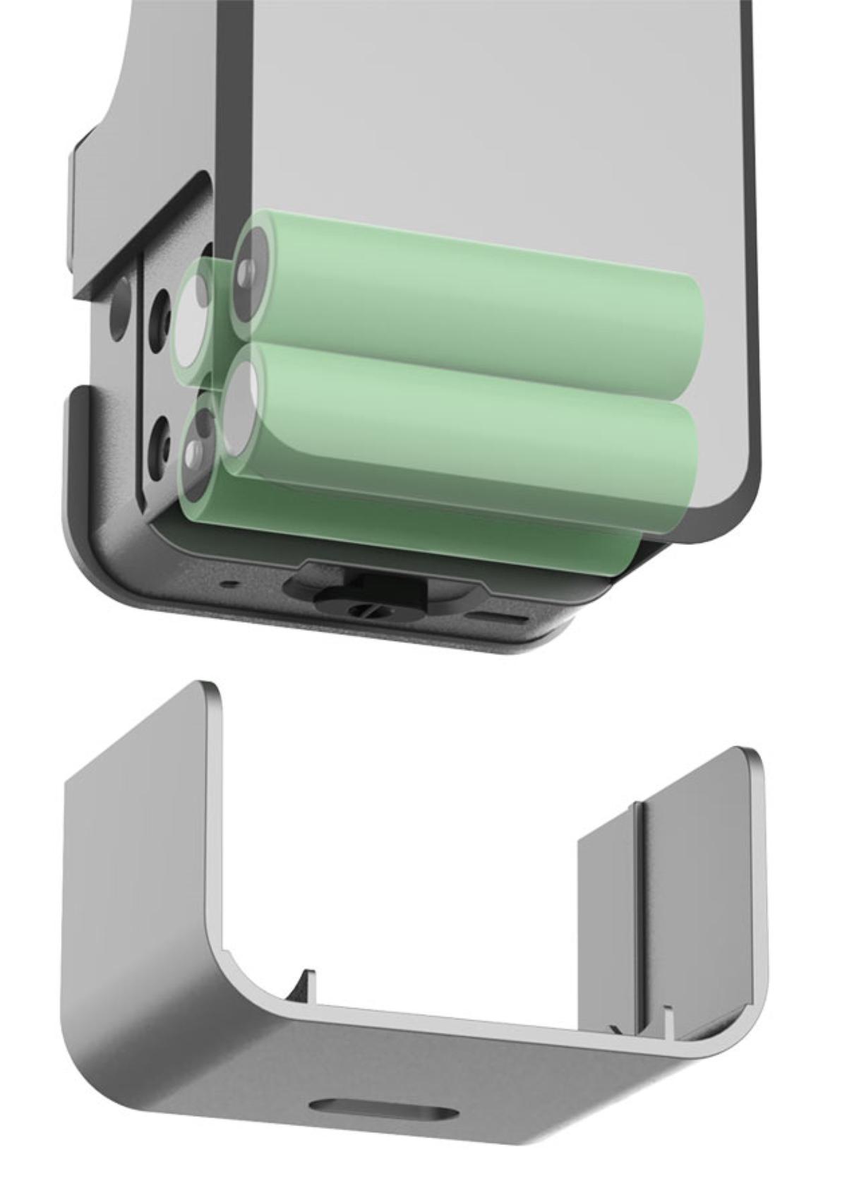 Gimdow Smart Lock - Main Unit Batteries Installation