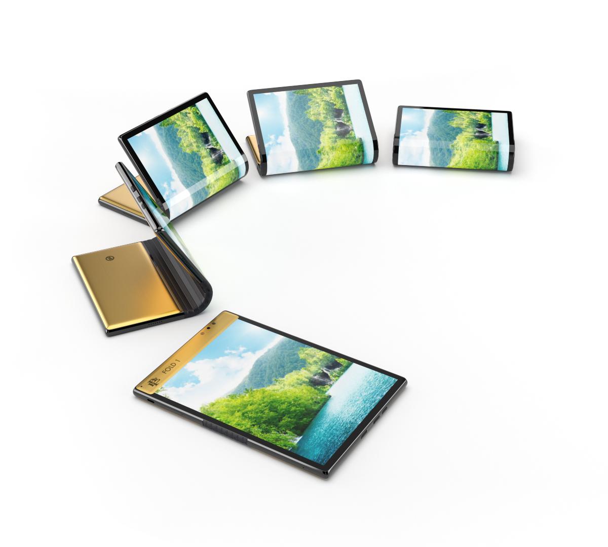 Escobar Fold 1 Foldable Phone - Folding into a Tablet