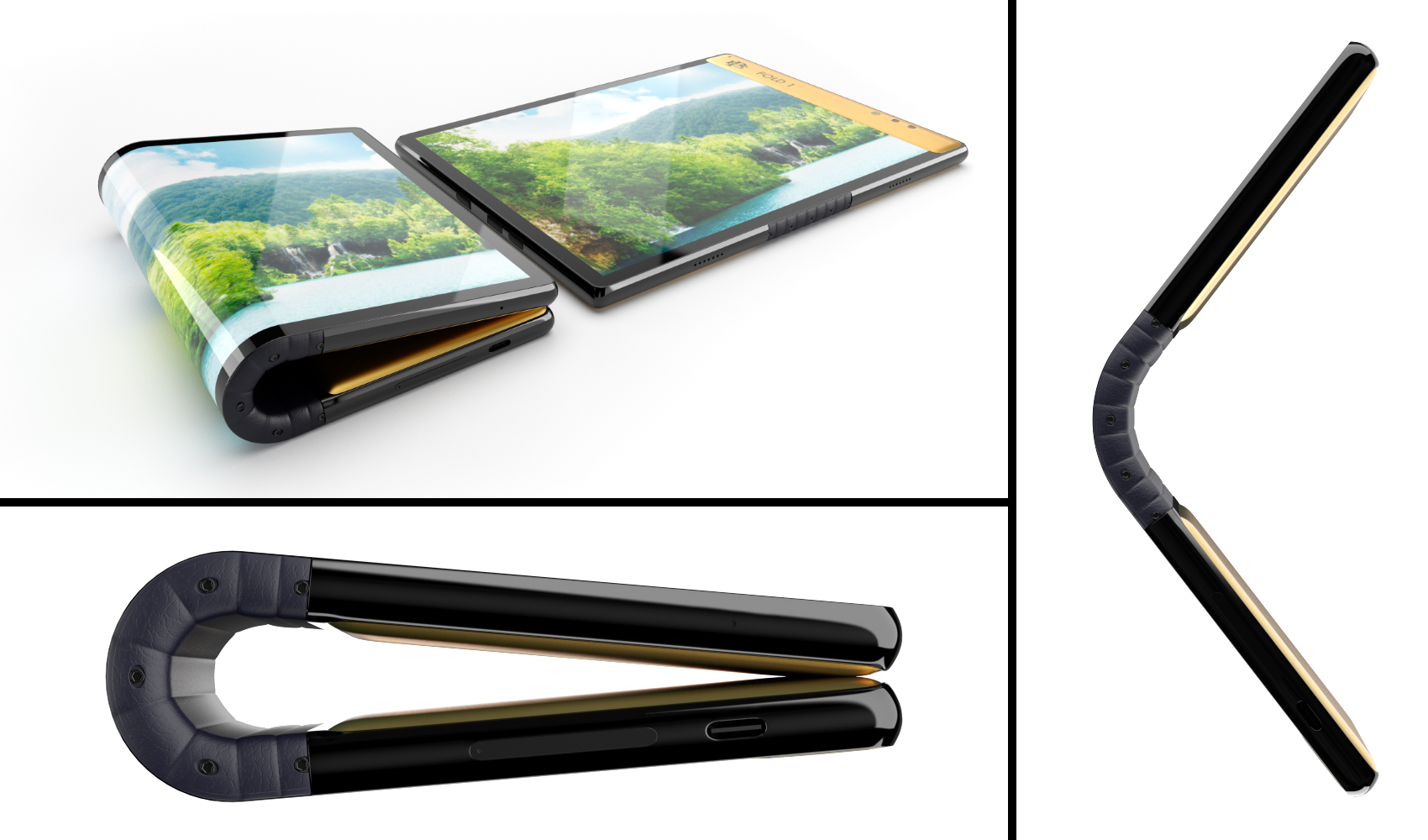 """Escobar Fold 1 - Brand-New """"Unbreakable"""" Foldable Smartphone"""