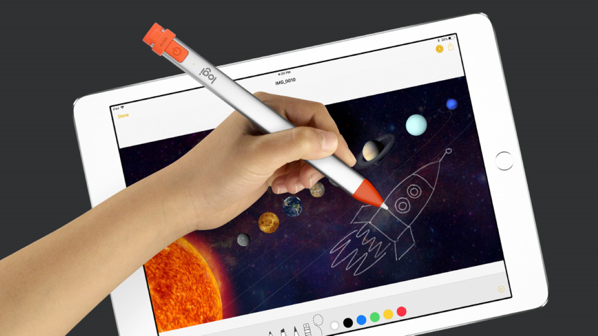 Logitech Crayon Bluetooth Digital Pen - Palm Rejection Technology