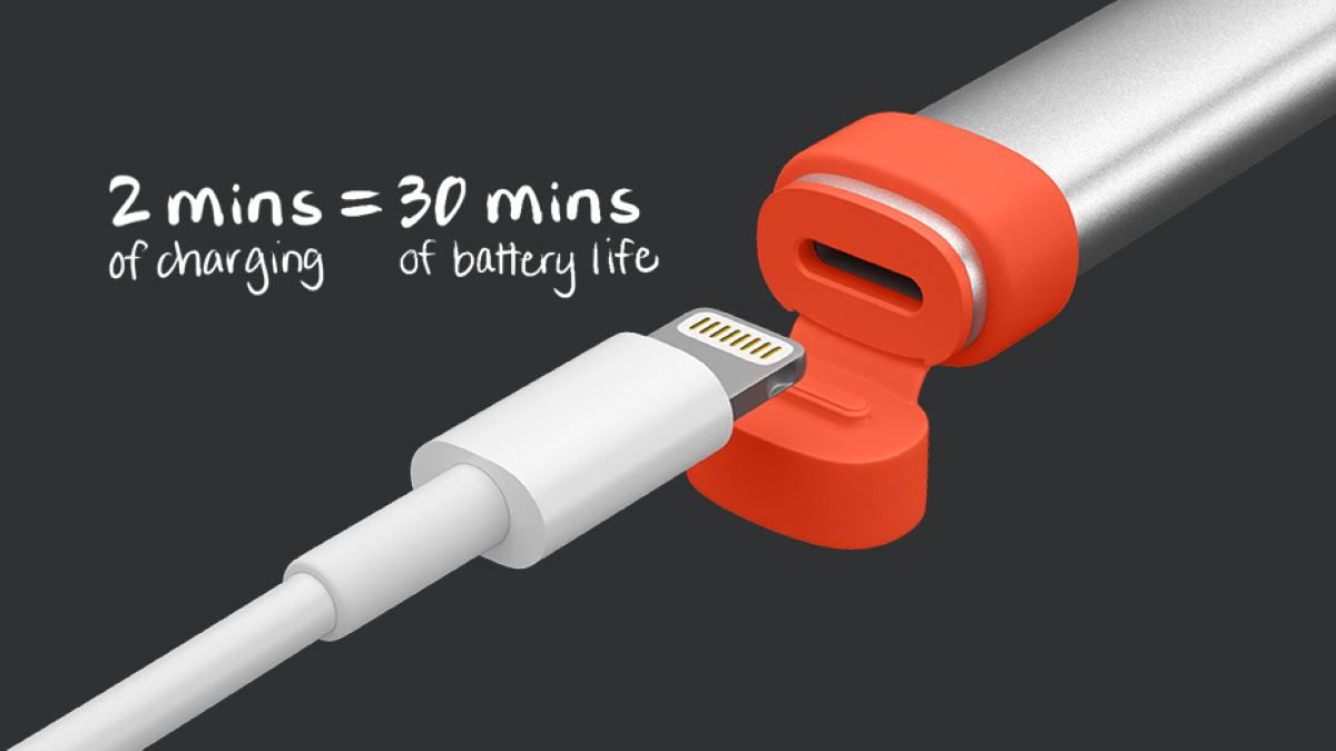Logitech Crayon Bluetooth Digital Pen - Quick Boost Recharge