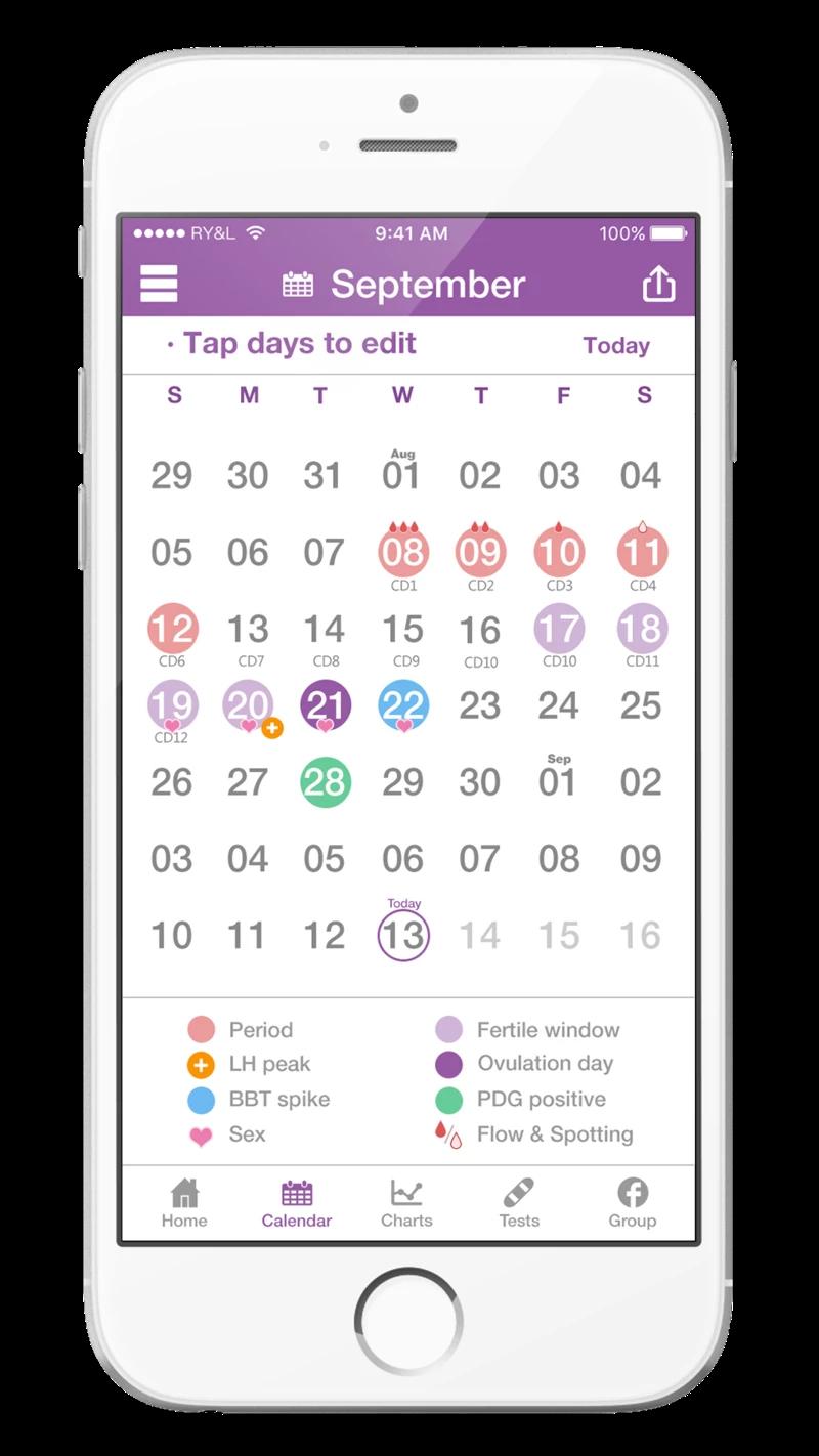 Premom App - BBT Chart