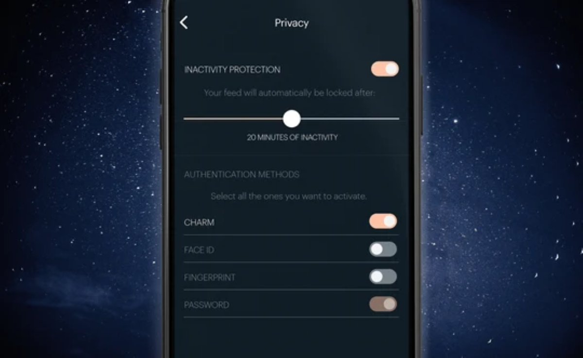 Talsam App - Privacy Settings