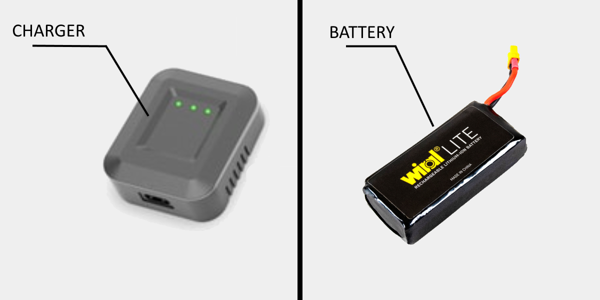 Wiral LITE's Battery and Charger