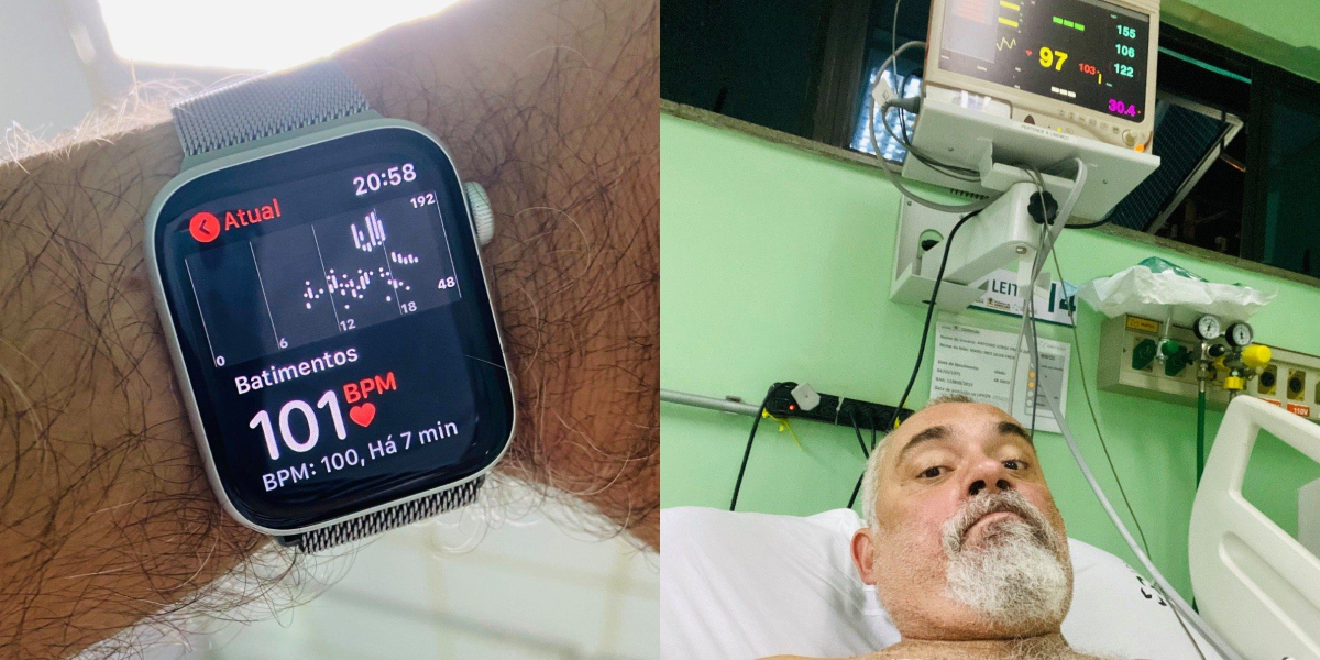 Jorge Freire Jr., saved by his own Apple Watch's high heart rate notification