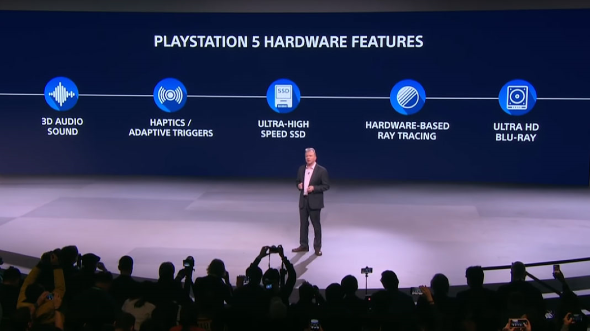 Sony's Press Conference at CES 2020, showcasing its upcoming PlayStation 5