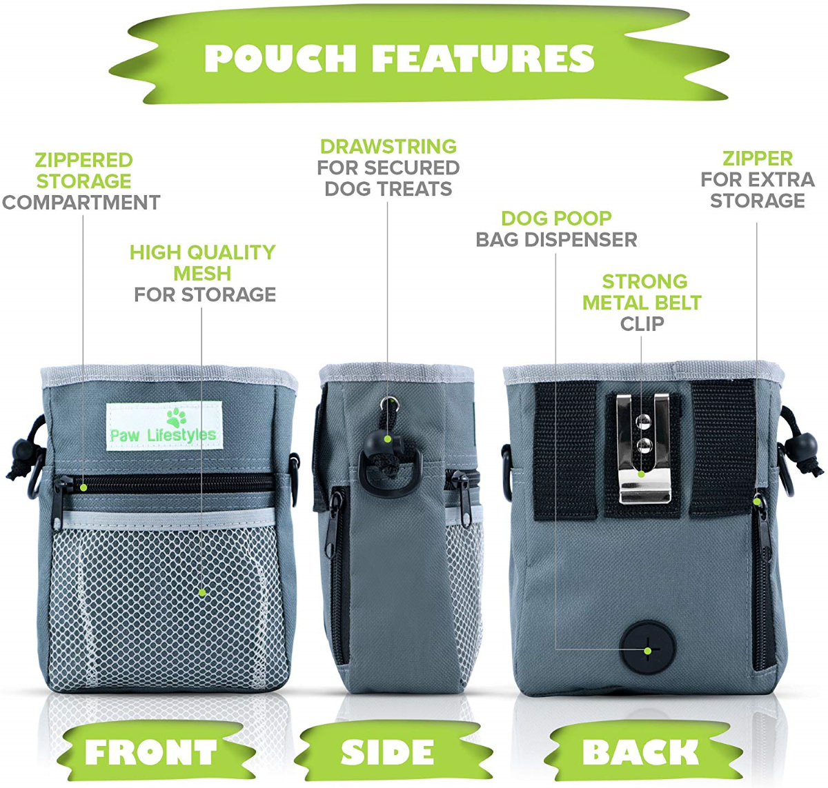 Front, Middle, Side and Back Compartments & Utility Features