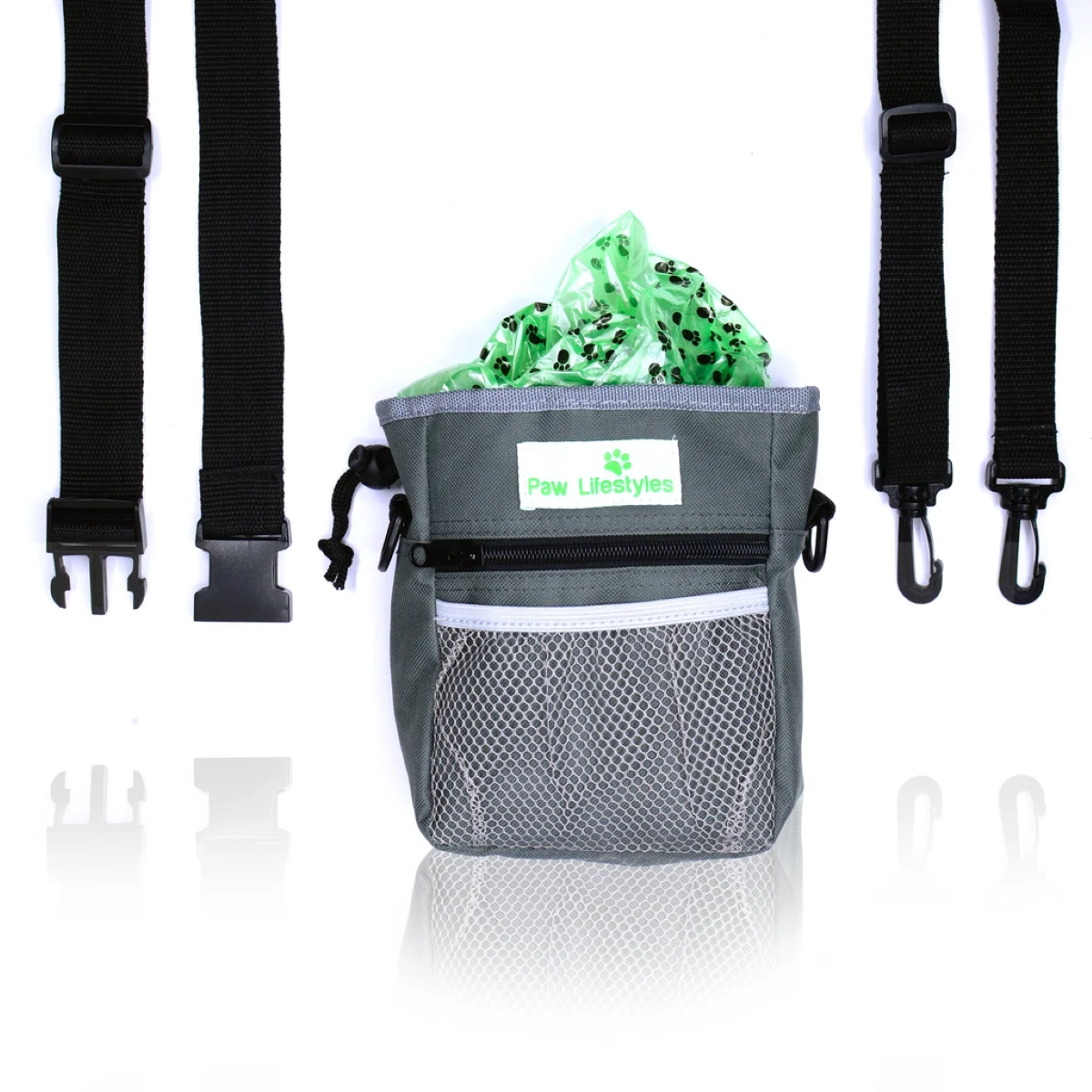 """Included Accessories - Removable 48"""" Adjustable Waistband and Removable Shoulder Strap"""