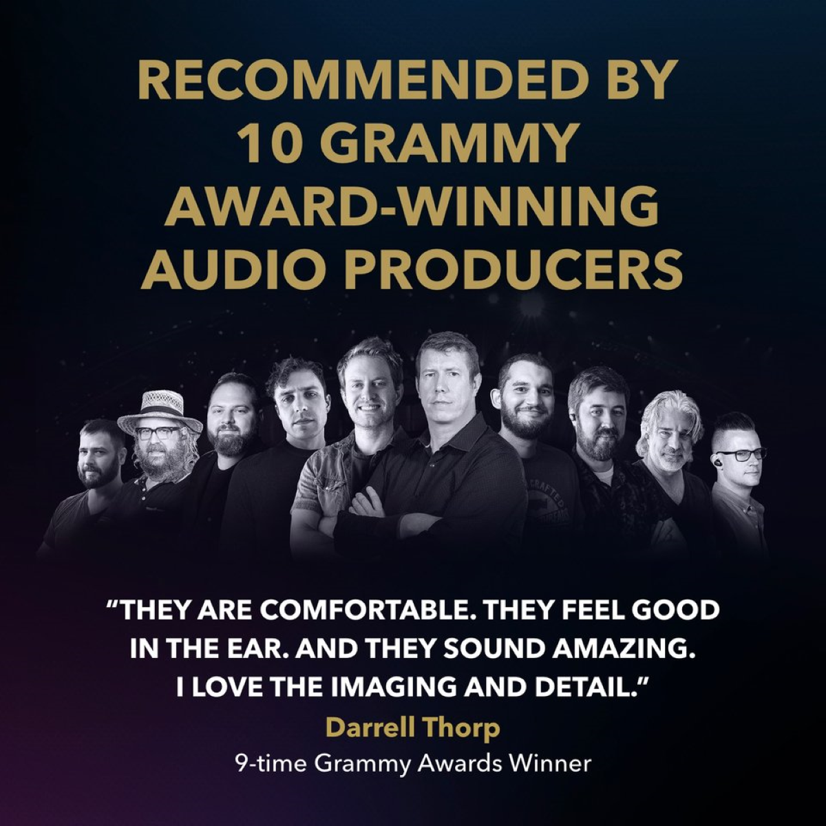 Recommended by 10 different Grammy Award winning producers