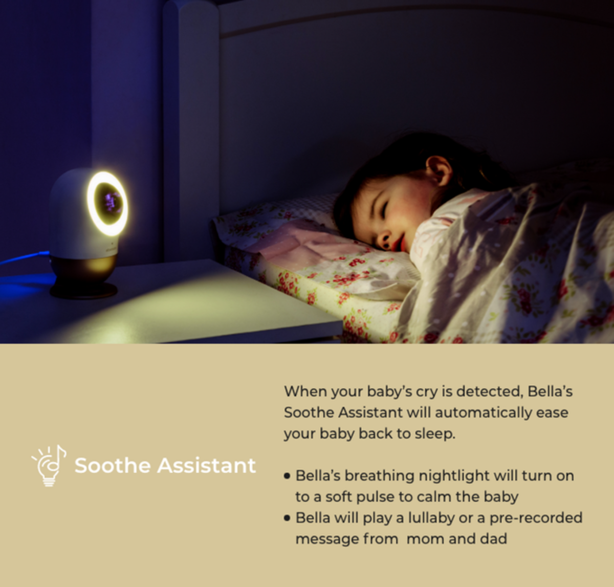 Bella Baby Monitor - Soothe Assistant Mode