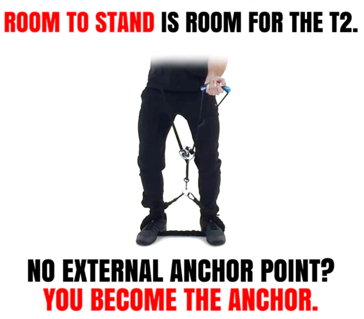 No External Anchor Point Needed to Strap the System To