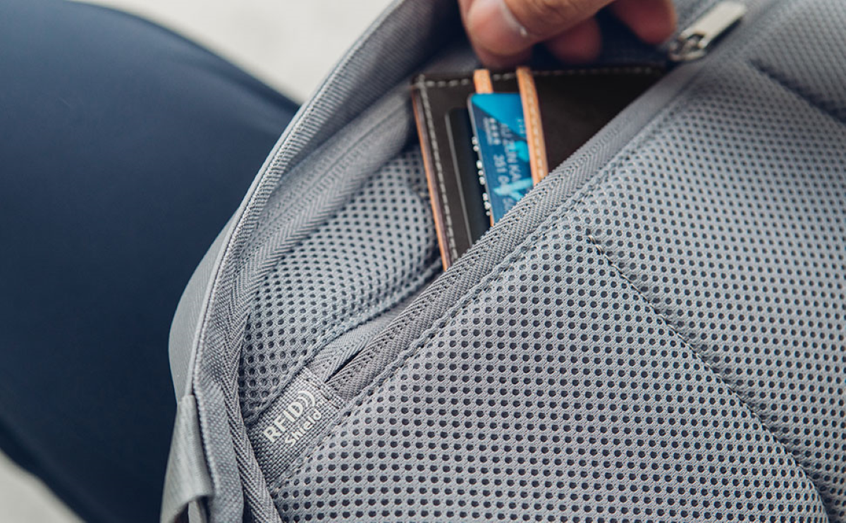 RFID Shield pocket to keep personal data safe and protected