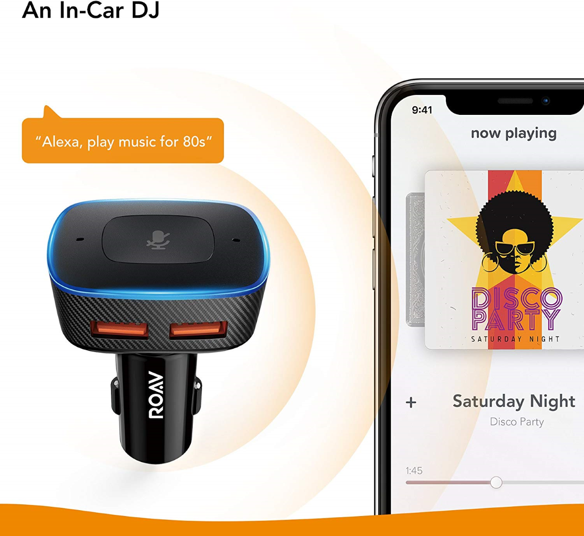 Roav VIVA Pro - Voice-Enabled Soundtracks