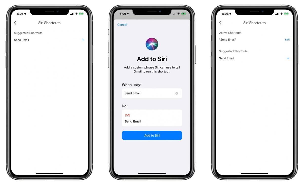 iOS Gmail App - Siri Voice Shortcuts