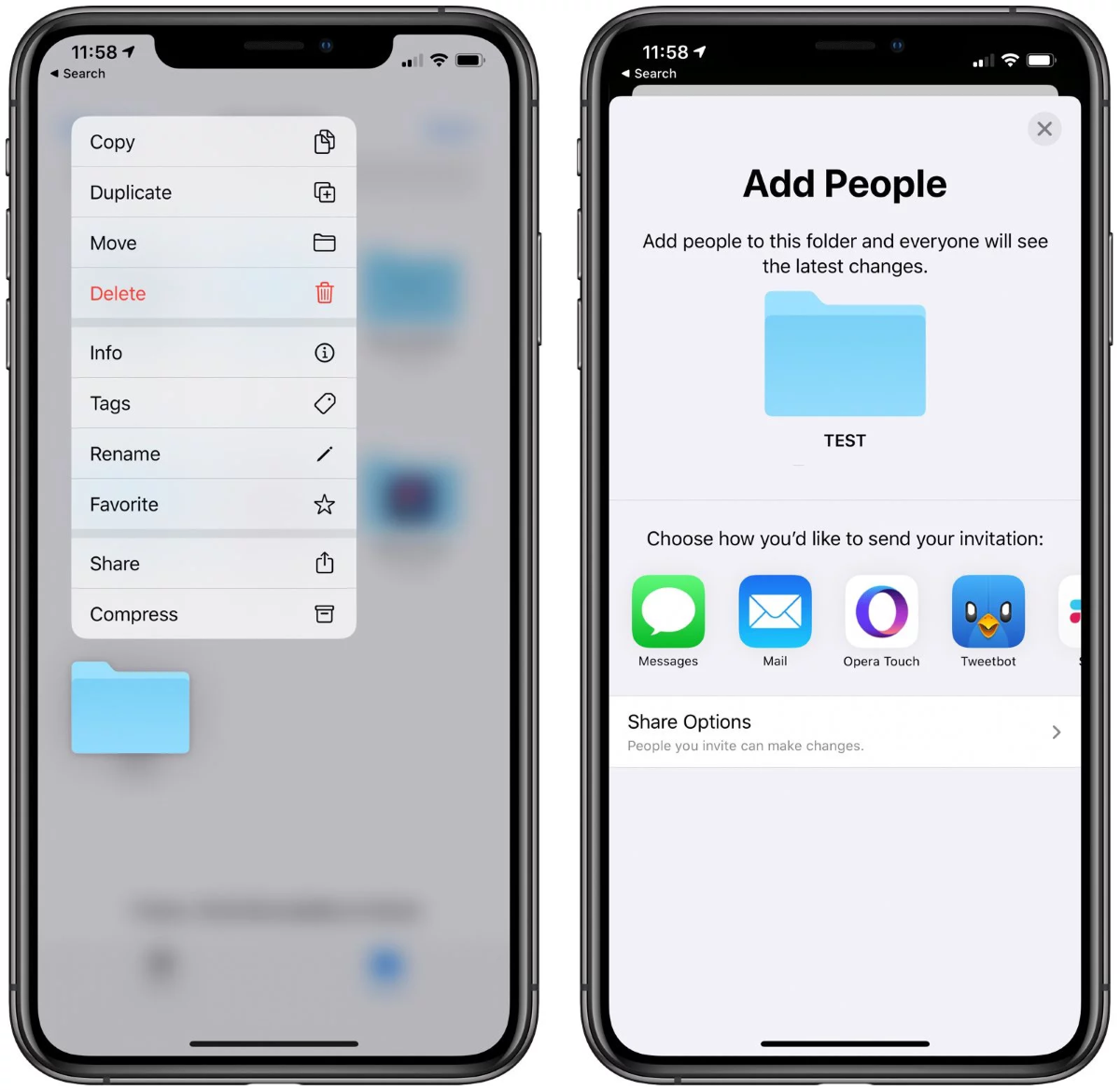 iPadOS and iOS 13.4 Public Beta Versions - New iCloud Folder Sharing feature