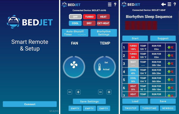 BedJet App's Features