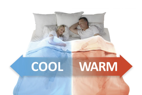 Have the cooling on just one side of the bed