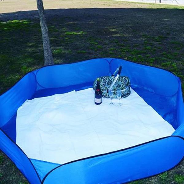 Sandy Bumz Solid Blue Color Model