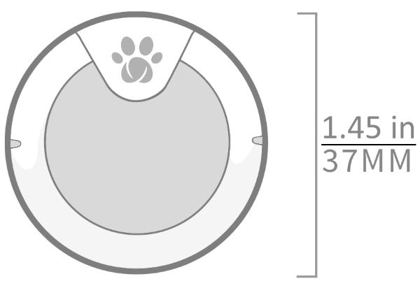 Sure Petcare Animo dog monitor - Measurements