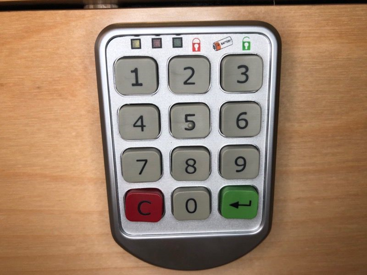 Equipped with a digital combination lock