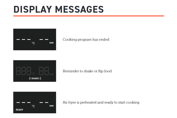 Digital Screen's Display Messages