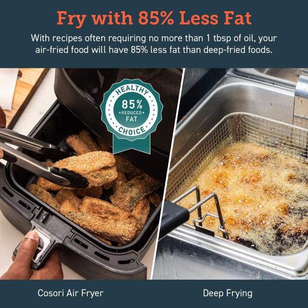 Cosori Premium 5.8-Quart Air Fryer - Fry with 85% Less Fat
