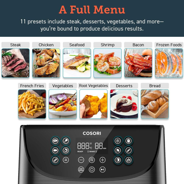 11 Different Cooking Presets for the Ultimate Cooking Convenience