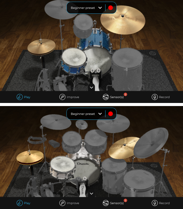 Senstroke App - Customize your virtual drumming kit & Sounds Used