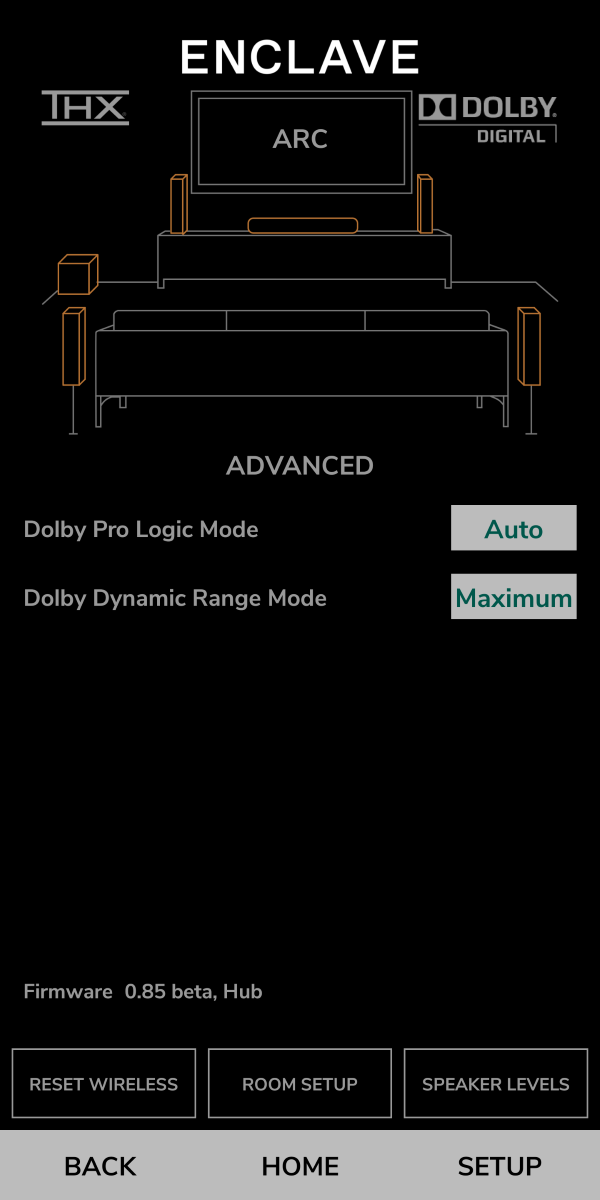 Enclave App - Advanced Settings