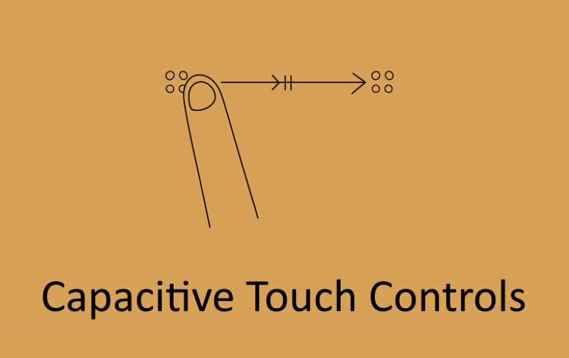 Capacitive Touch Controls that allow users to easily control their media volume and soundtrack selection