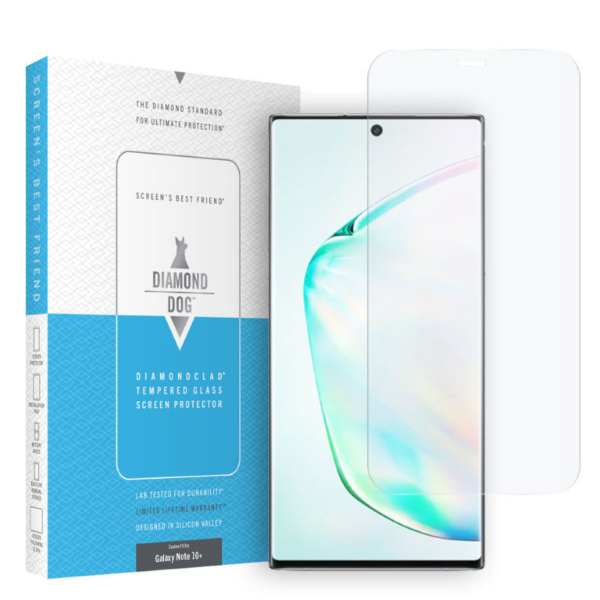Diamond Dog Diamondclad Tempered Glass Screen Protector (Model for the Galaxy Note 10+)