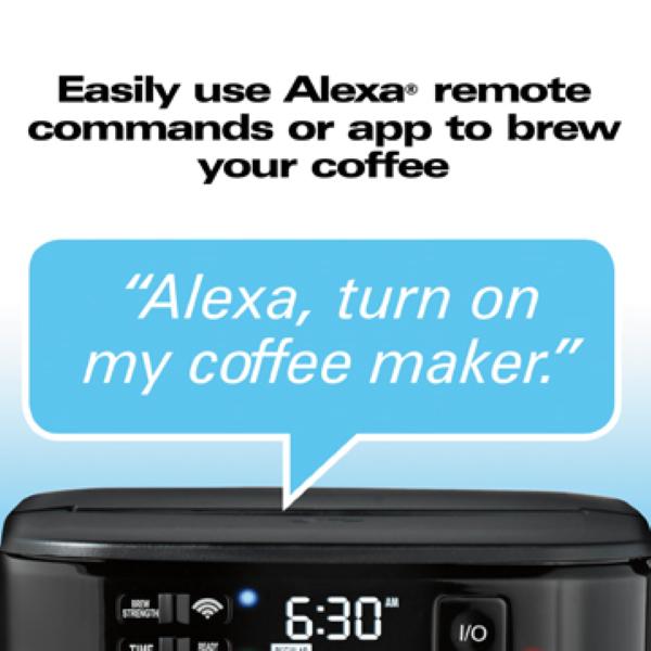 Hamilton Beach Smart 12 Cup Coffee Maker - Features Voice & App Controls with Amazon Alexa